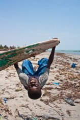 Local deserted beach in village of Joal-Fadiout on Petite Côte, Senegal. Photo by Marko Preslenkov.