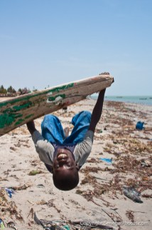 Local deserted beach in village of Joal-Fadiout on Petite Côte, Senegal. Photo by Marko Preslenkov.
