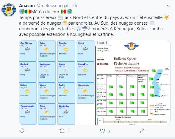 Météo au Sénégal : Les prévisions peu rassurantes de l'ANACIM