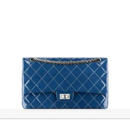 Chanel blue 2.55 flap bag