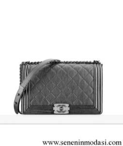 Chanel grey boy flap bag