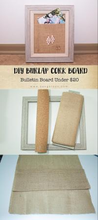 Burlap Cork Board DIY