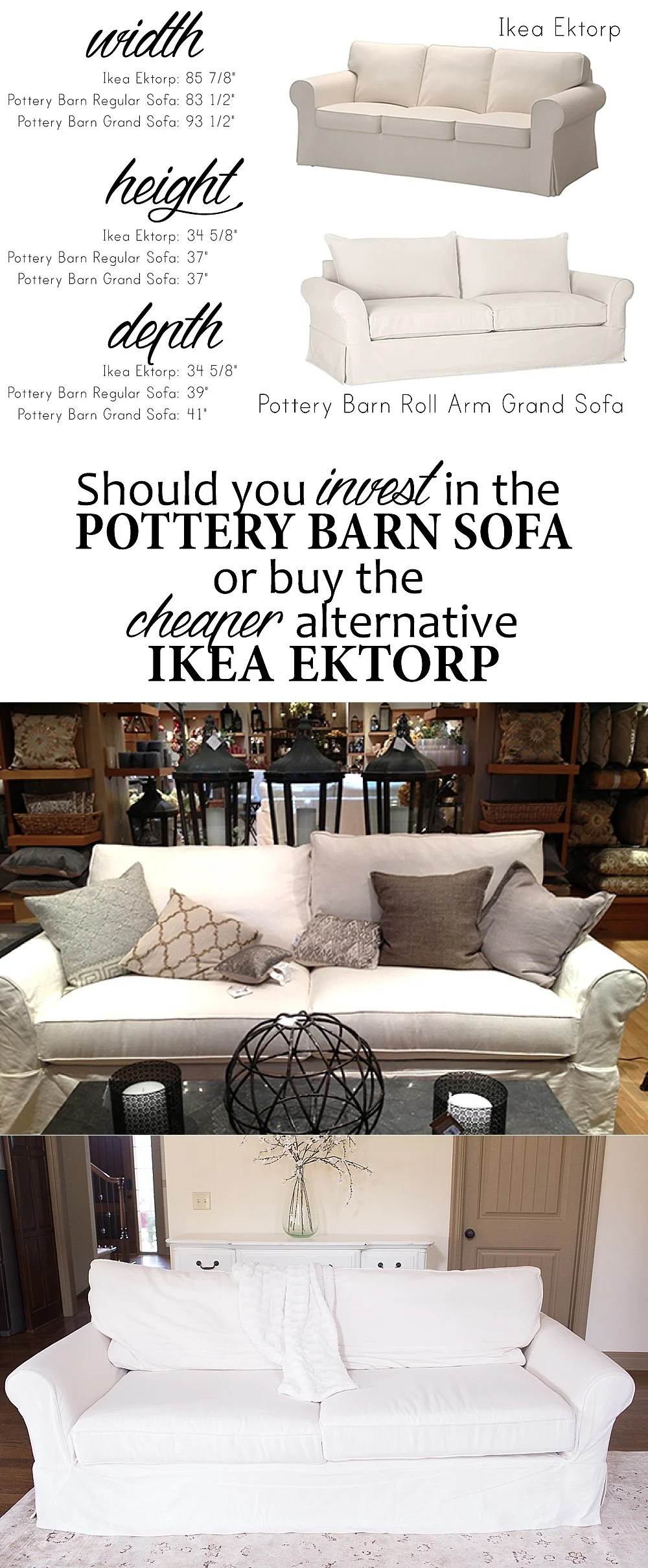 ikea ektorp chair review banquet covers on craigslist versus pottery barn grand sofa how to choose a couch and