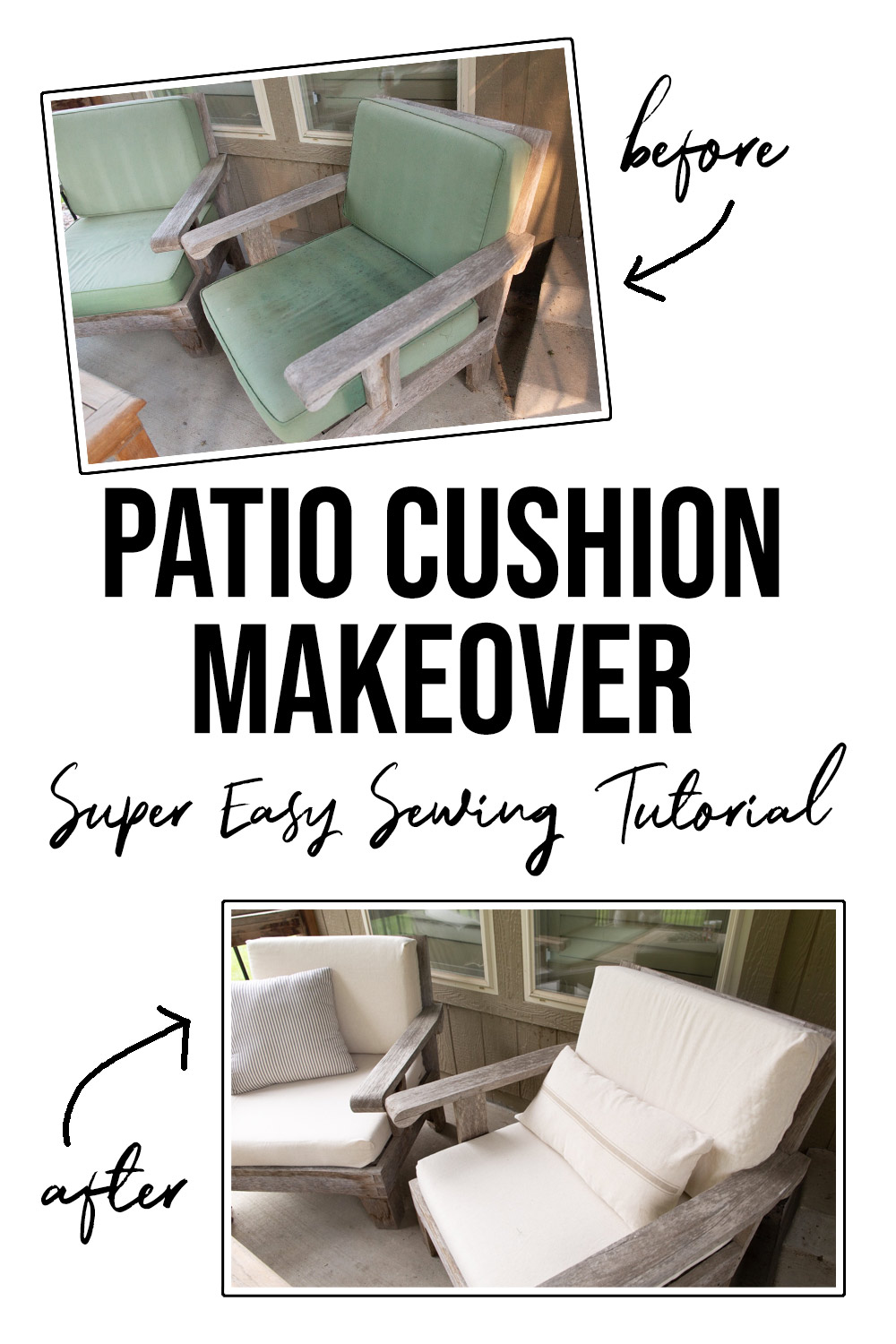 diy outdoor cushion covers with zipper