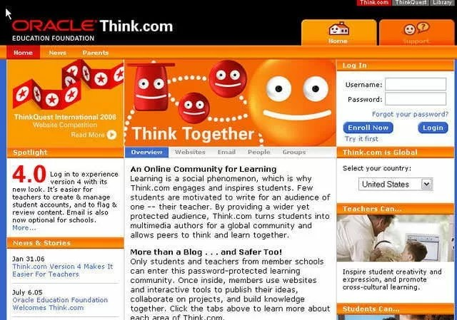 Website Tertua - Think.com