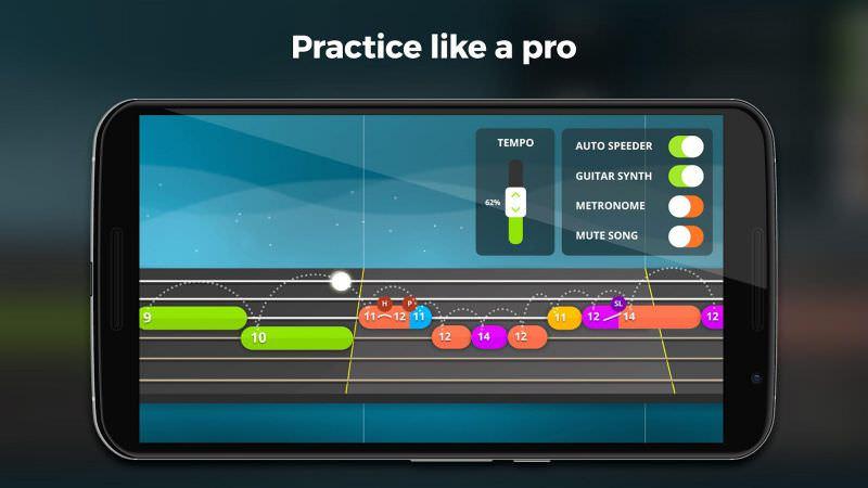 aplikasi belajar gitar terbaik - yousician app