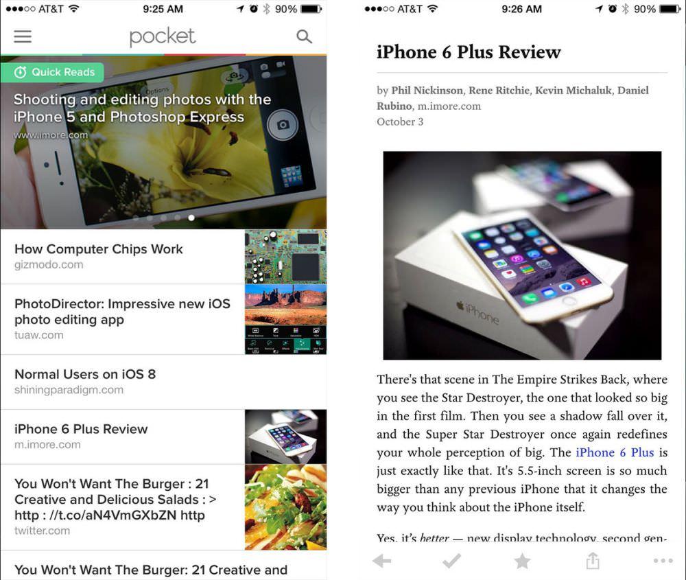 aplikasi iPhone untuk blogger - Pocket