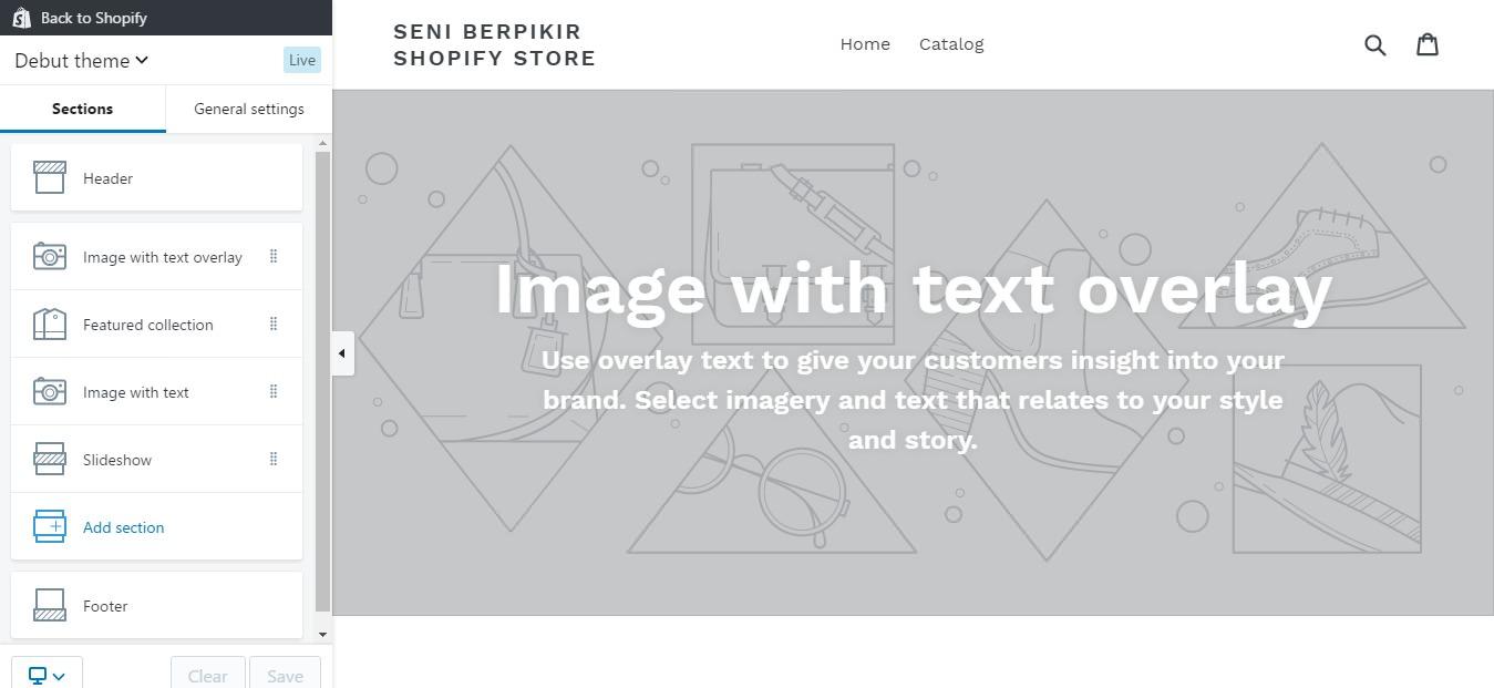 review shopify - mengatur tampilan shopify