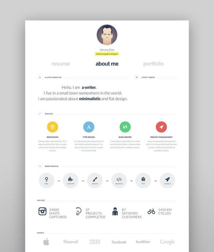 theme wordpress resume portfolio - cvcard wp
