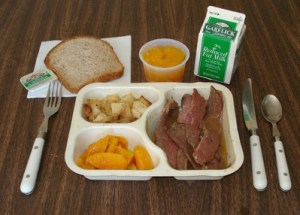 picture of sample meal for Meals on Wheels