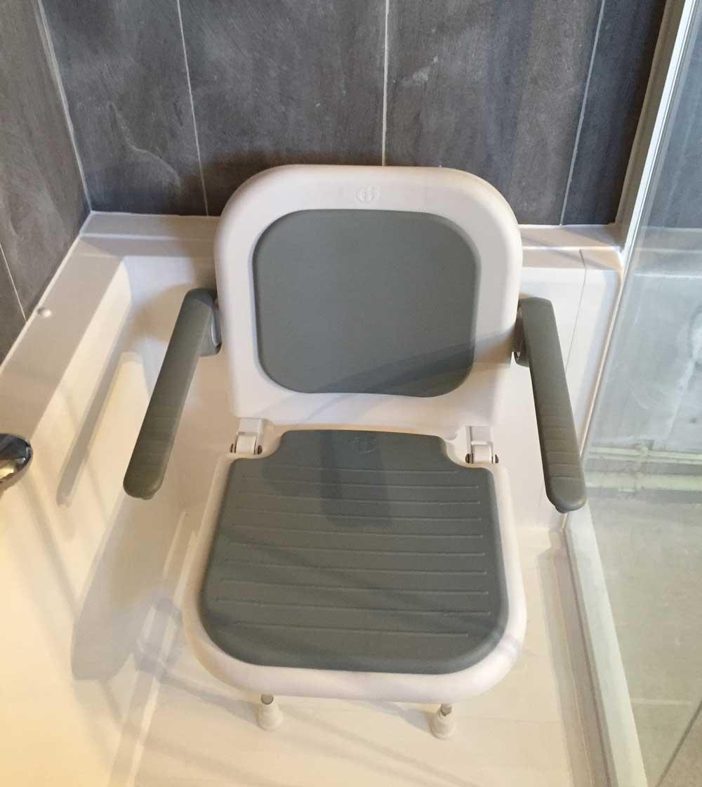 siege pivotant de baignoire ou de