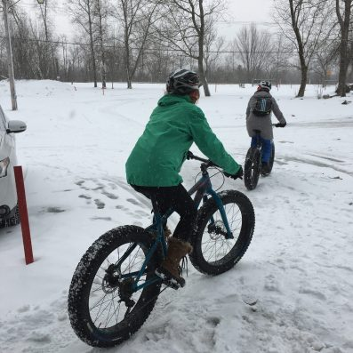 Fat biking at Centre National de Cyclisme de Bromont.