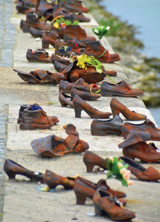 """""""Shoes on the Danube Bank"""" honours the Jews who were killed on the river bank in Budapest during World War II."""