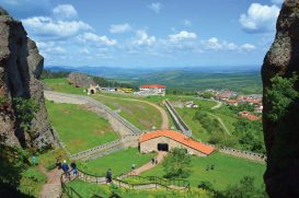 Belogradchik Fortress, built into the Belogradchik Rocks, is best seen from high up.