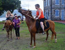 Horseback ride to Fort Shirley over Prince Rupert Bay - JDD