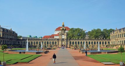 Zwinger Palace in Dresden is one of the sites on the walking tour.