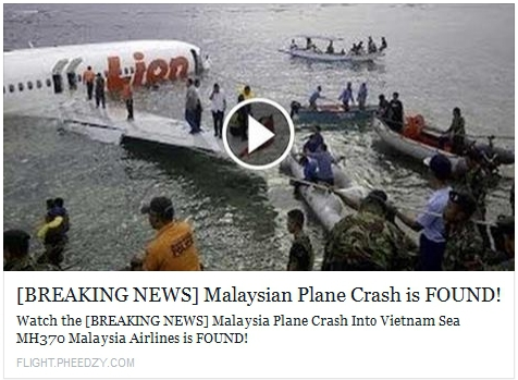 MH370 Scam - Senior Online Safety