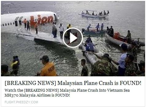 MH370 Scam - Senior Online Safety