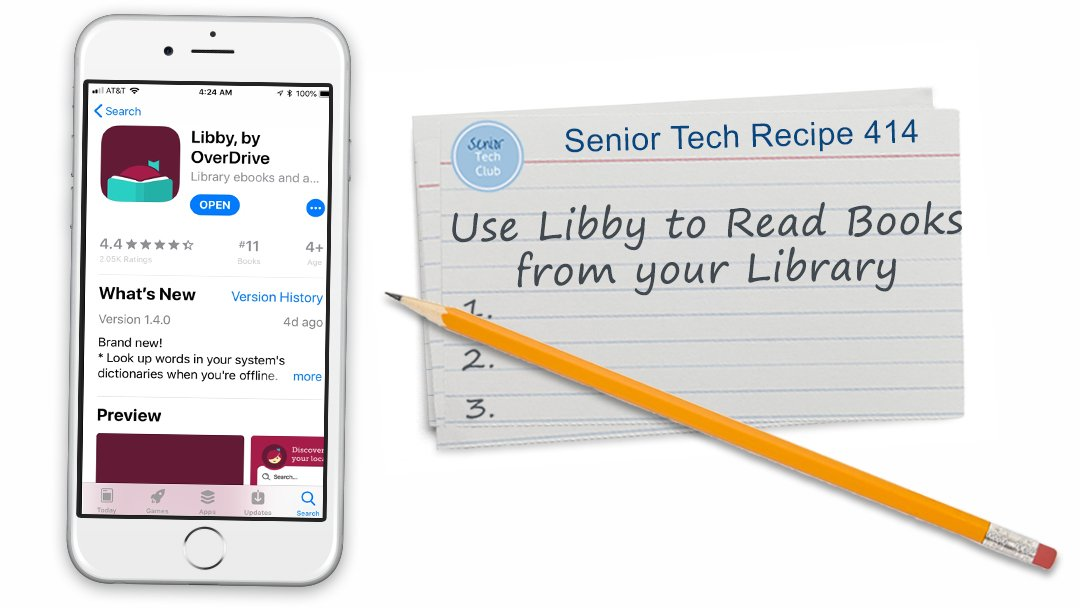 use libby to read books from your library senior tech club