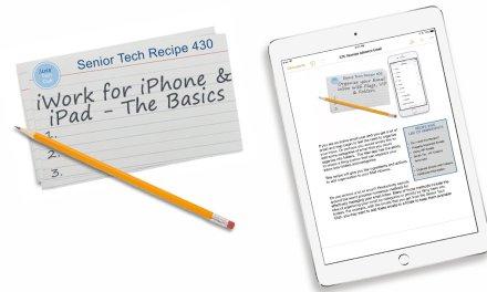 iWork for iPhone and iPad – The Basics