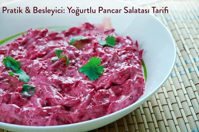 Yoğurtlu Kırmızı Pancar Salatası Tarifi Seniyiysen