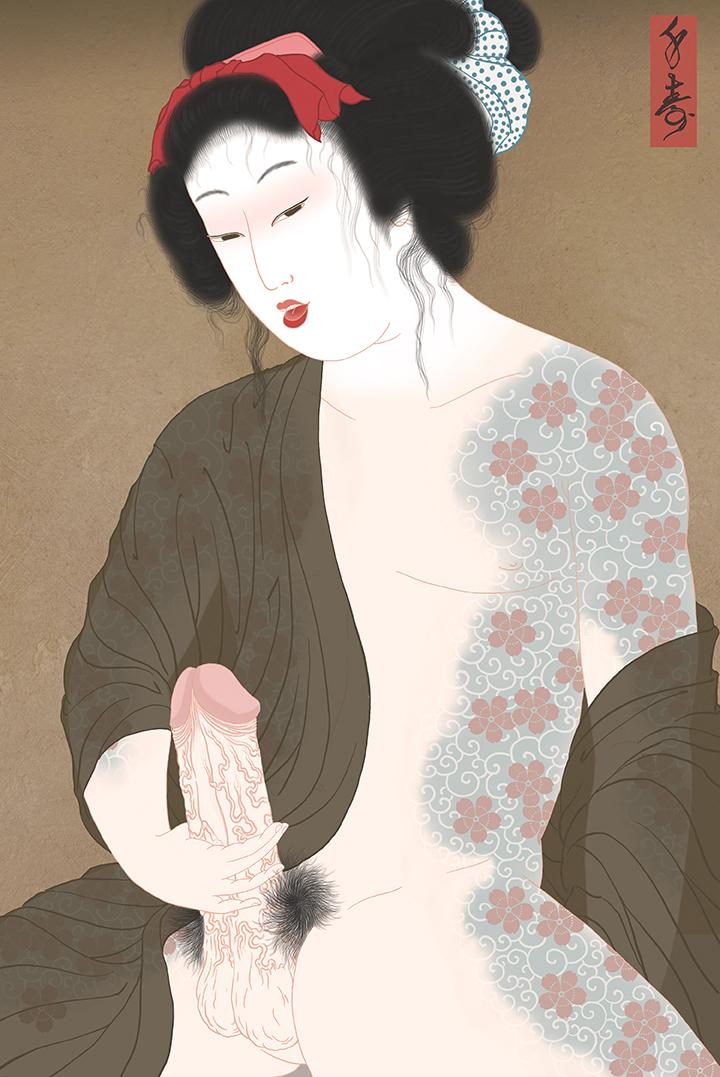 """Benten Kozo"" Shunga print"