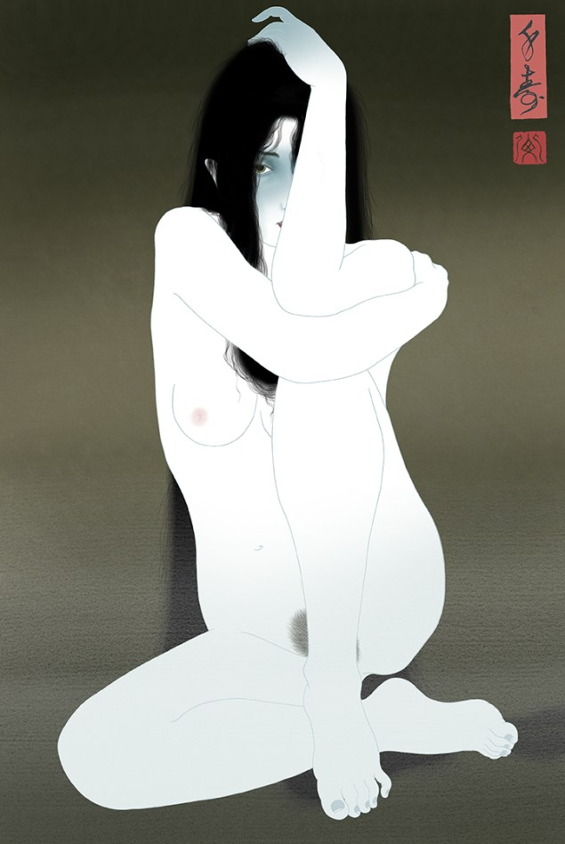 Painting of a sensual and strangely erotic ghost