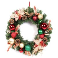 Talking lighted outdoor personalized christmas wreaths