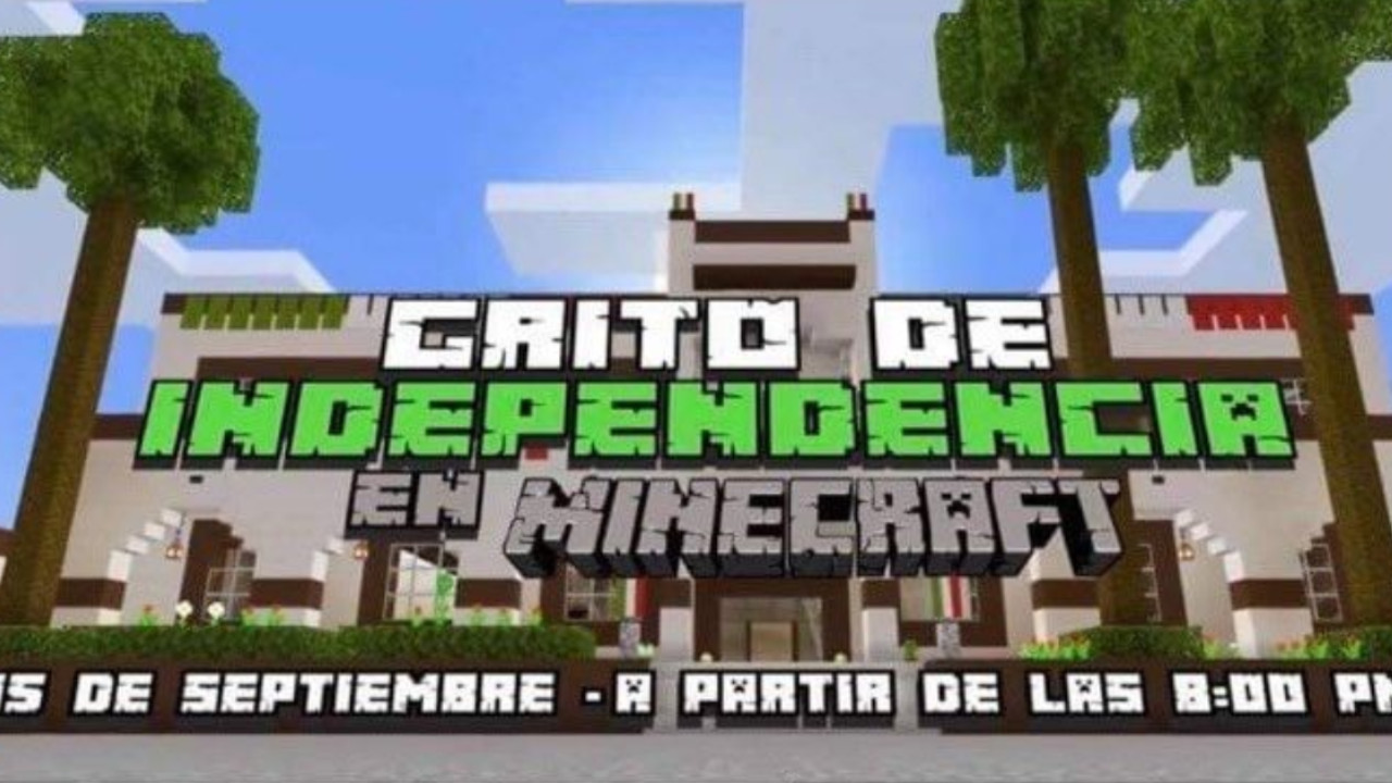 Invitacion oficial del Gobierno de Escobedo a Minecraft por el Dia de la Independencia