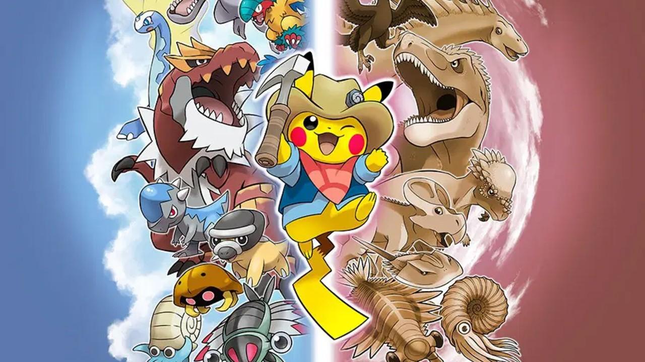 Exhibición de dinosaurios Pokémon