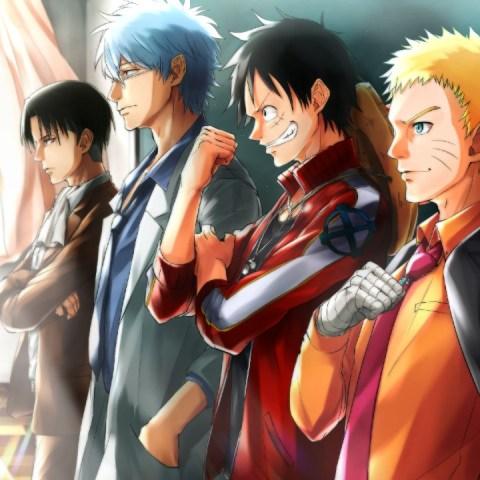 Imágenes de anime Naruto Eren Luffy