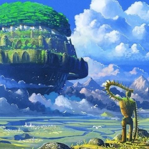 El castillo en el cielo Laputa nombre
