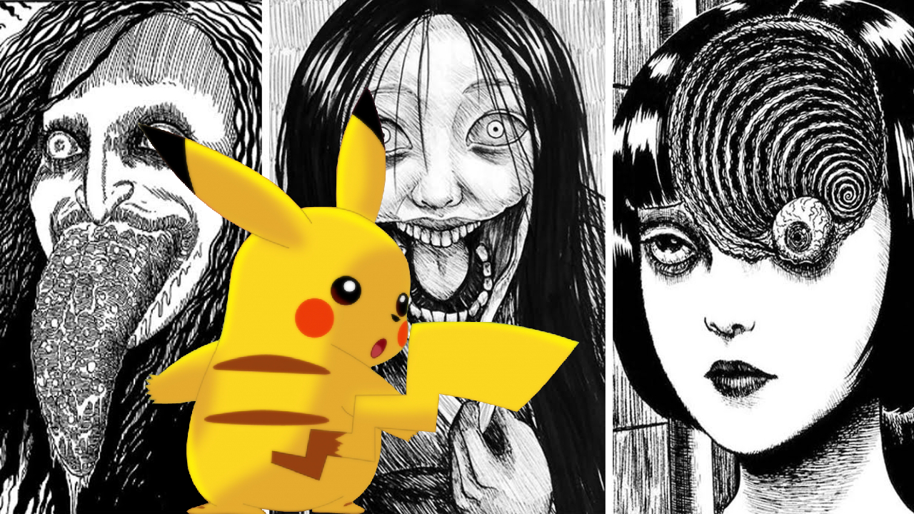 Junji Ito Pokémon fanart crossover