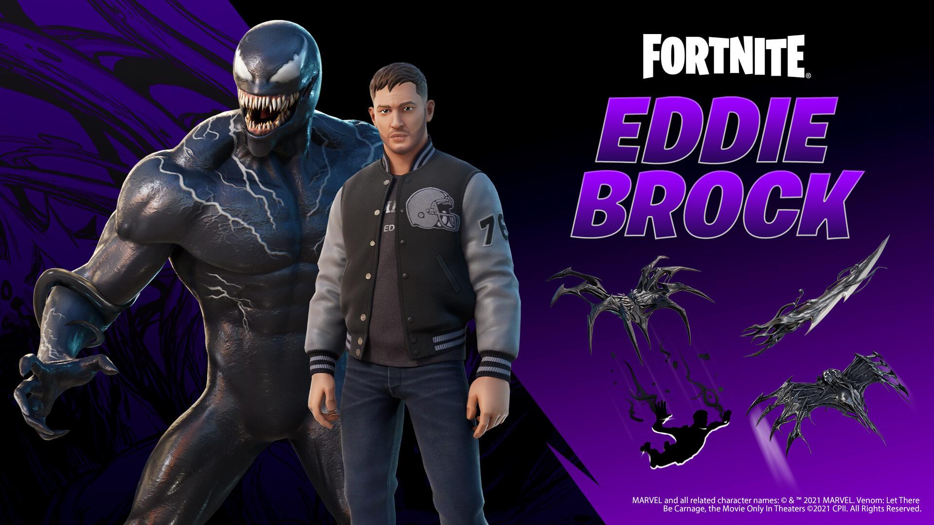 Eddie Brock Tom Hardy Venom Fortnite Skin