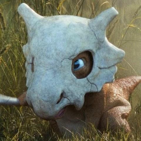 artista pokémon cráneo real de cubone