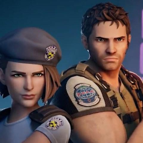Chris y Jill de Resident Evil en Fortnite