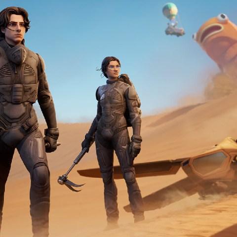 Paul Atreides y Chani de Dune Fortnite