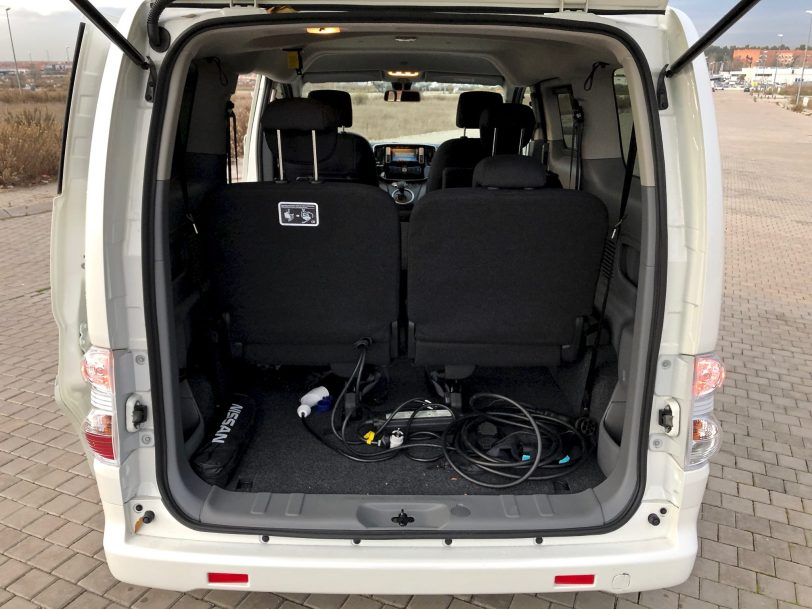 Maletero e nv200 - Nissan e-NV200 7 plazas 40 kWh de capacidad