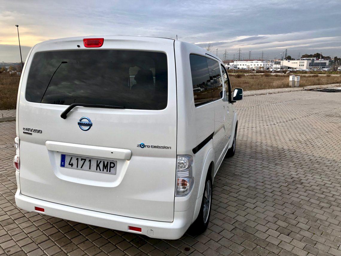 Trasera lateral e nv200 1140x855 - Nissan e-NV200 7 plazas 40 kWh de capacidad