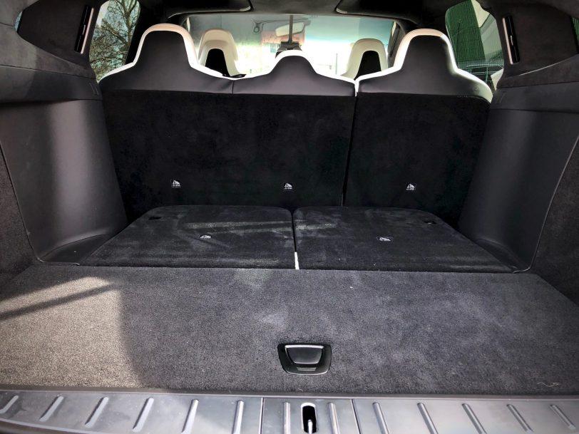 Maletero 2 filas de asientos Tesla Model X 100D - Tesla model X 100D: No es cualquier SUV