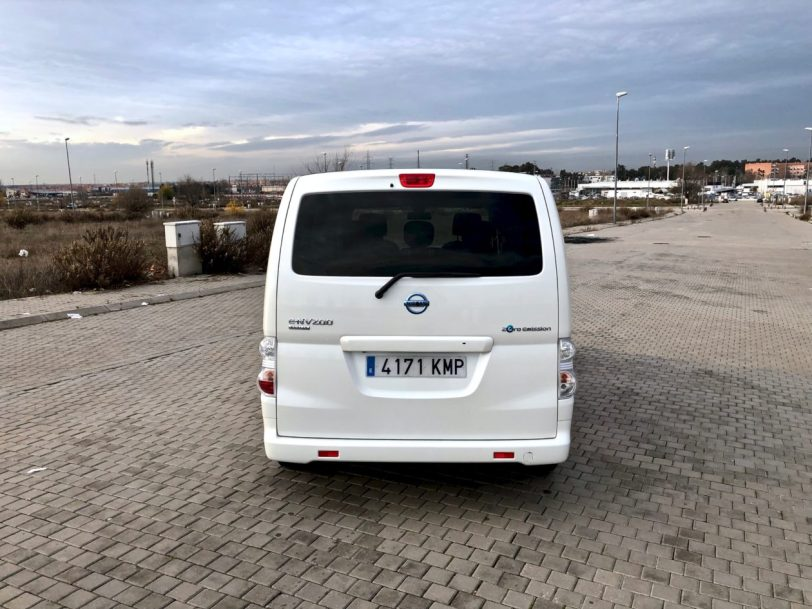 Trasera de frente e nv200 evalia 1260x945 - Nissan e-NV200 7 plazas 40 kWh de capacidad