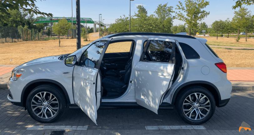 Angulo de apertura de las puertas mitsubishi asx - Mitsubishi ASX 160 MPI Kaiteki: un SUV compacto económico