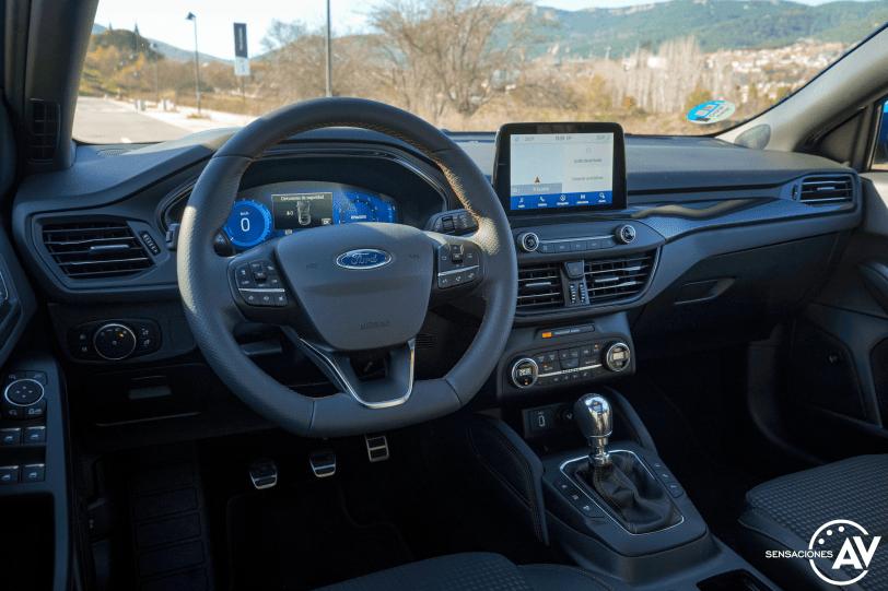 Salpicadero vista trasera izquierda Ford Focus ST Line ECOBOOST Hybrid - Prueba Ford Focus ST Line 2020 1.0 Ecoboost MHEV 155 CV