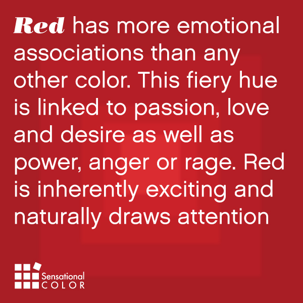 Meaning Of The Color Red Sensational Color