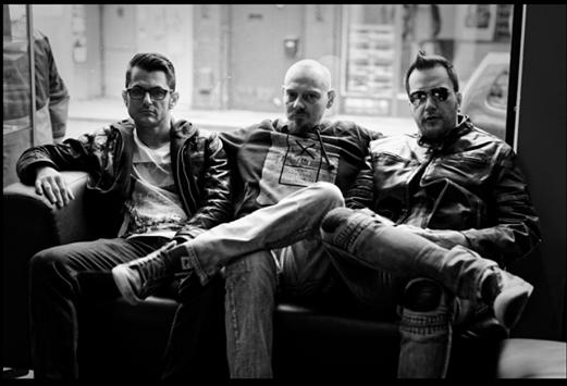 De gauche à droite: Jo, Mick et Greg