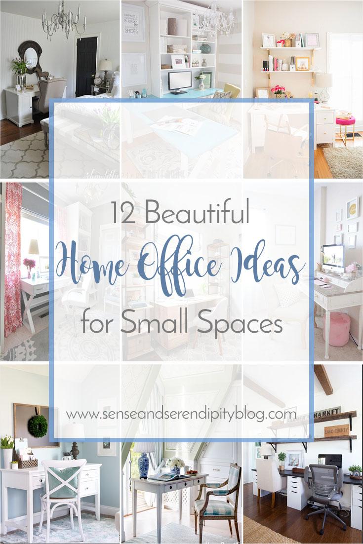 desk chair pink lightweight beach 12 beautiful home office ideas for small spaces - sense & serendipity