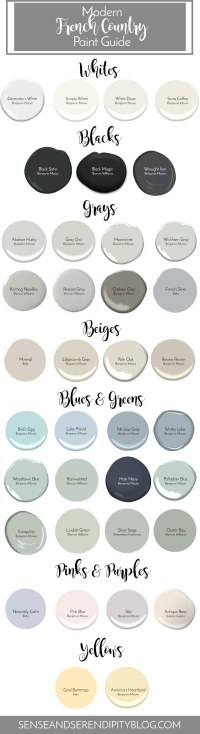 Modern French Country Paint Guide - Sense & Serendipity
