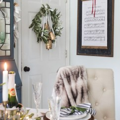 Blue And White Dining Chairs Oak Arrowback French Country Christmas Inspiration - Sense & Serendipity