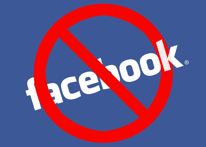Image result for no facebook