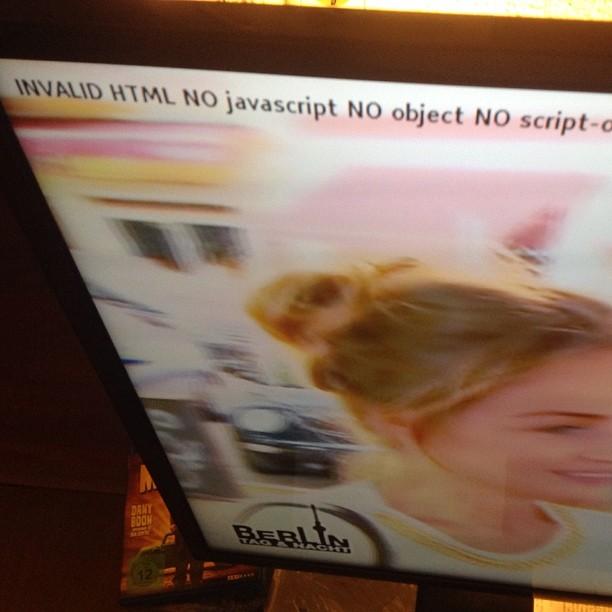 Der Beweis: Bei RTL 2 ist nicht nur der Inhalt blöde... - via Instagram